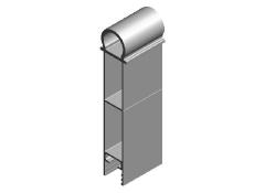 TR 3 rendszer 200mm forgáspontos felső