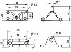 set sustinere din aluminiu pt arc pneumatic