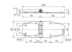 Articulatie usa laterala 208x80