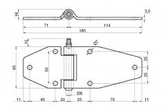 Articulatie usa laterala 185x70