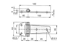 Articulatie usa laterala 100x39