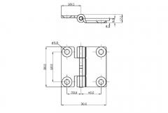 Articulatie usa laterala 50x80