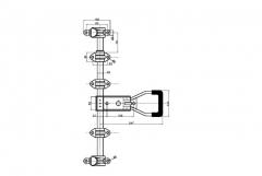 Set inchizator ext. aplicat d22 inox