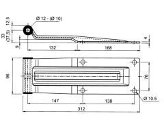 Articulatie  usa spate 300mm