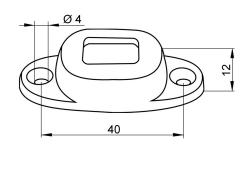 piesa fixat usa-rama  I=40