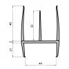Cauciuc despartitor frigorific 2,6 m