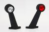 Lampă gabarit cu LED 45˚mare stânga, arc, alb-roşu