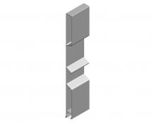 Alumínium kampós Mono profil 400mm