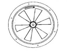 Grila aerisire lustruita d=180 cu 6 deschideri