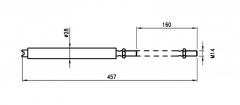 Arc pneumatic pt articulatie perete despartitor 200kg